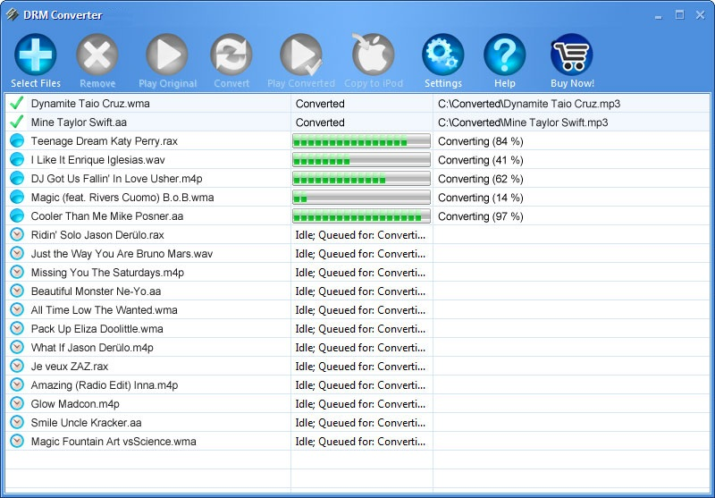 Click to view DRM Converter 4.1.8 screenshot